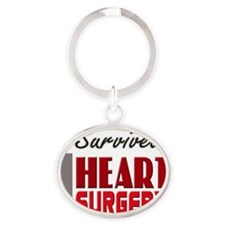 isurvived-heartsurgery Oval Keychain