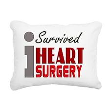 isurvived-heartsurgery Rectangular Canvas Pillow