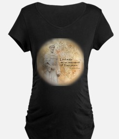 St Francis Vintage Maternity T-Shirt