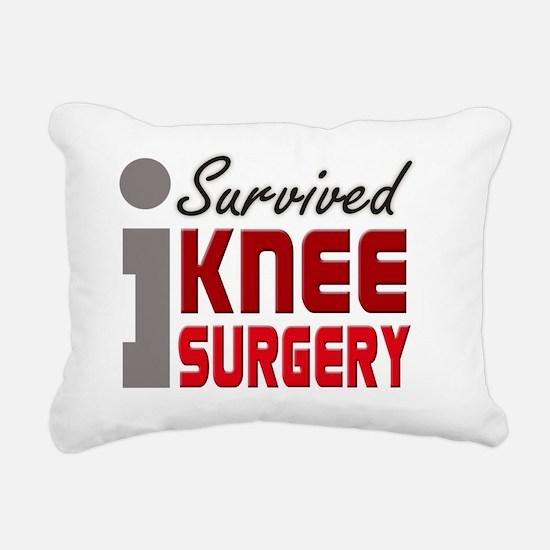 isurvived-kneesurgery Rectangular Canvas Pillow