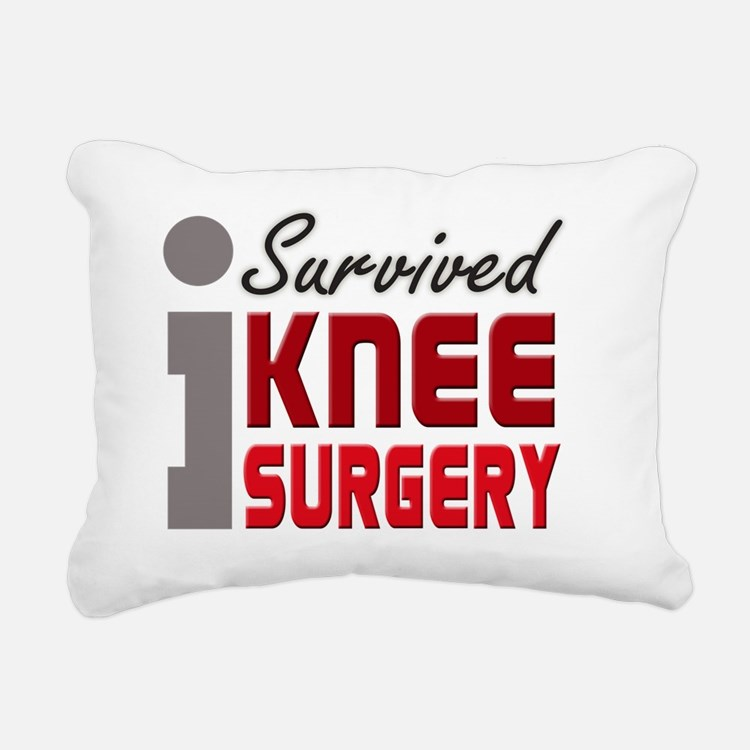 isurvived-kneesurgery Rectangular Canvas Pillow