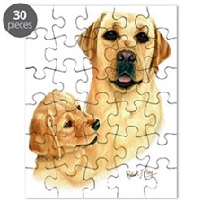 Yellow Lab  Pup Puzzle