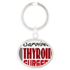 isurvived-thyroidsurgery Oval Keychain