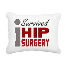 isurvived-hipsurgery Rectangular Canvas Pillow