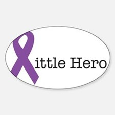 littleheropurple Sticker (Oval)