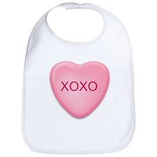 XOXO   candy heart Bib