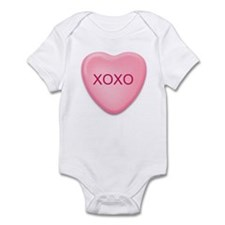 XOXO   candy heart Infant Bodysuit