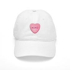 XOXO candy heart Baseball Cap