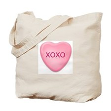 XOXO   candy heart Tote Bag