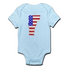 Vermont Flag Infant Bodysuit