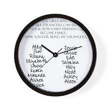 SHIRT BACK xtra names Wall Clock
