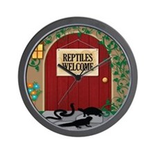 reptileswelcome9 Wall Clock