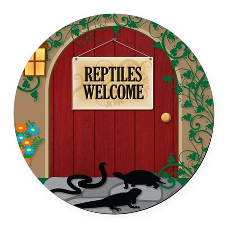 reptileswelcome9 Round Car Magnet