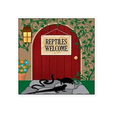 """reptileswelcome9 Square Sticker 3"""" x 3"""""""