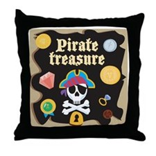 piratetreasure Throw Pillow