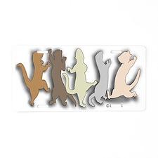 Ferret Shapes Aluminum License Plate