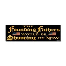 Cute The founding fathers Car Magnet 10 x 3