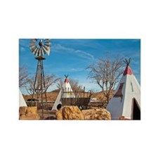 Windmill Greeting Card Rectangle Magnet
