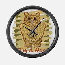 Im A Hoot Large Wall Clock
