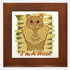 Im A Hoot Framed Tile