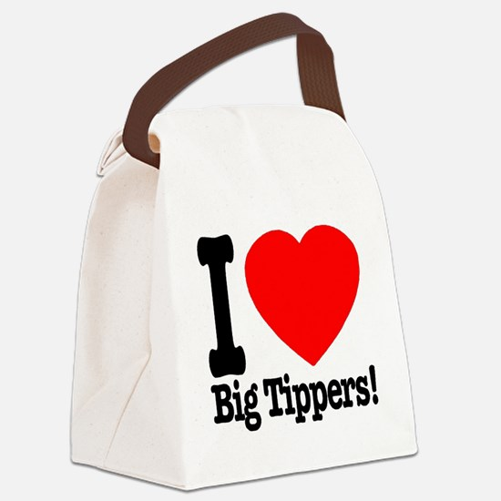 ilove_big_tippers_transparent Canvas Lunch Bag