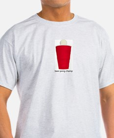 Beer Pong Champ Ash Grey T-Shirt