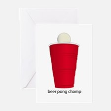 Beer Pong Champ Greeting Cards (Pk of 10)