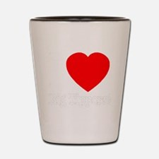 ilove_big_tippers_whitefont_transparent Shot Glass