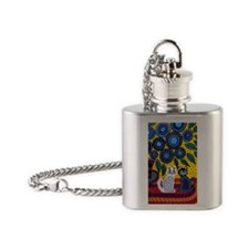 House Cats Flask Necklace