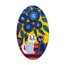 House Cats Oval Car Magnet