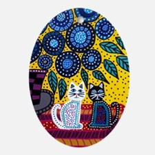 House Cats Oval Ornament