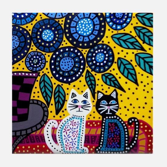 House Cats Tile Coaster