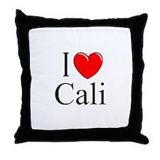 """I Love Cali"" Throw Pillow"