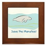 Save the Manatee! Framed Tile