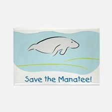 Save the Manatee! Rectangle Magnet