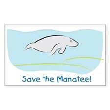 Save the Manatee! Rectangle Decal