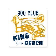 "bench_kob_300tran Square Sticker 3"" x 3"""