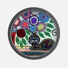 House Cat and House Plant Wall Clock