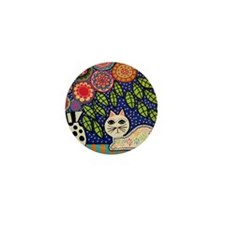 White House Cat Mini Button