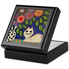 White House Cat Keepsake Box