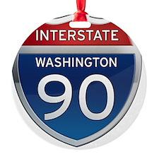 Interstate 90 - Washington Ornament