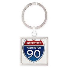 Interstate 90 - Washington Square Keychain