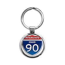 Interstate 90 - Idaho Round Keychain