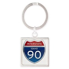 Interstate 90 - Idaho Square Keychain