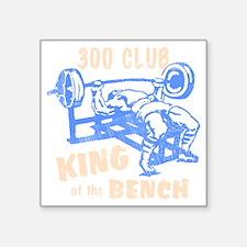 "bench_kob_300tran_rev Square Sticker 3"" x 3"""