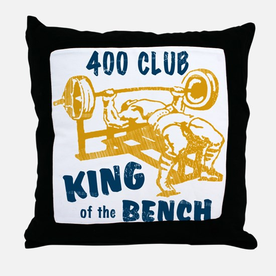 bench_kob_400tran Throw Pillow