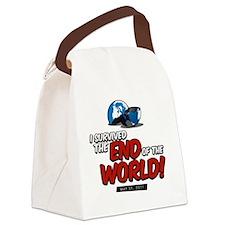 BrokenGlobeLarge Canvas Lunch Bag