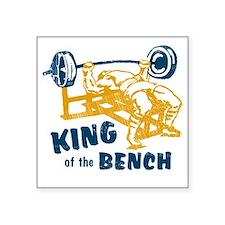 "bench_kob_tran Square Sticker 3"" x 3"""