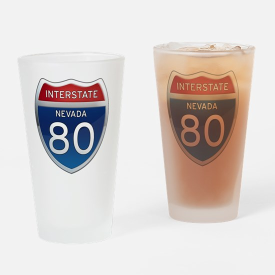 Interstate 80 - Nevada Drinking Glass