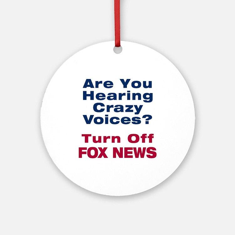 Turn Off Fox News Ornament (Round)